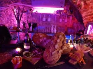 Buffet et champagne